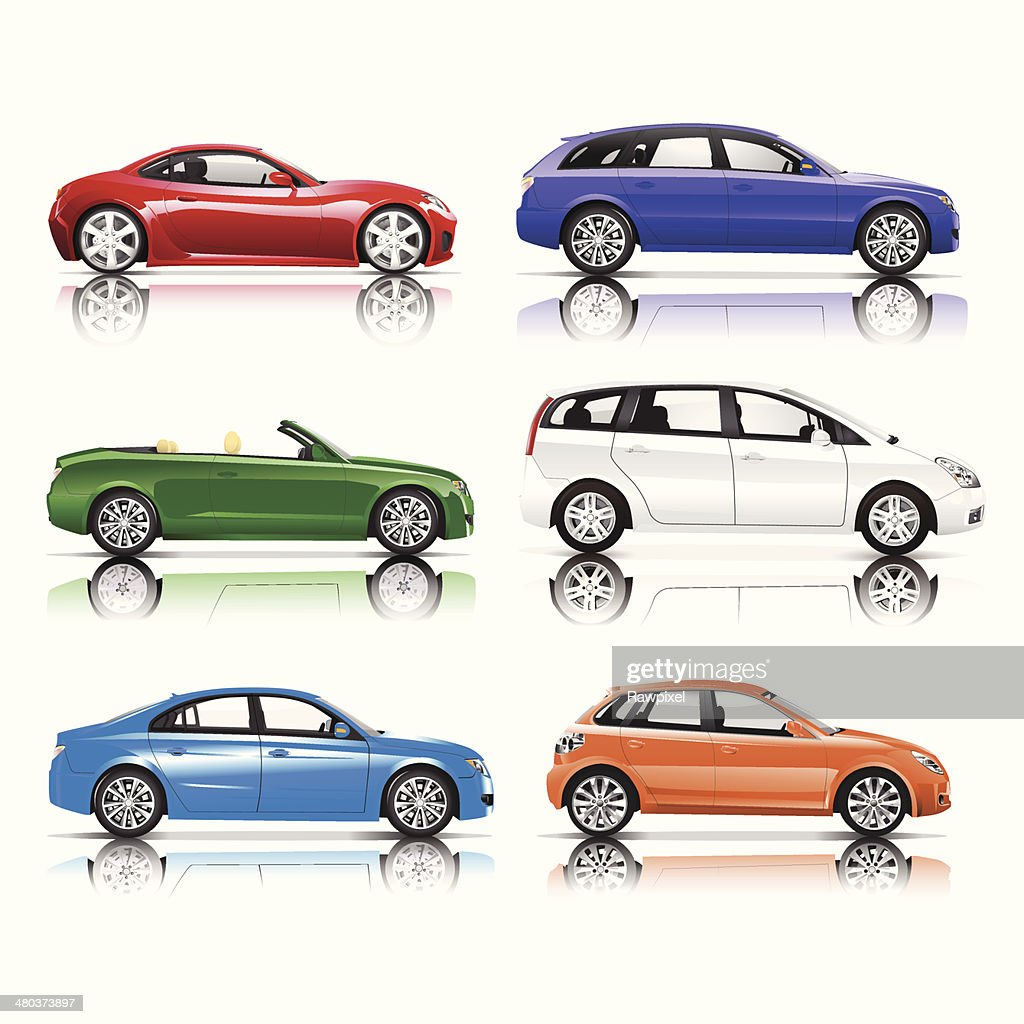 Collection of 3D Cars Vector