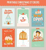Collection of 6 Christmas gift tags and cards