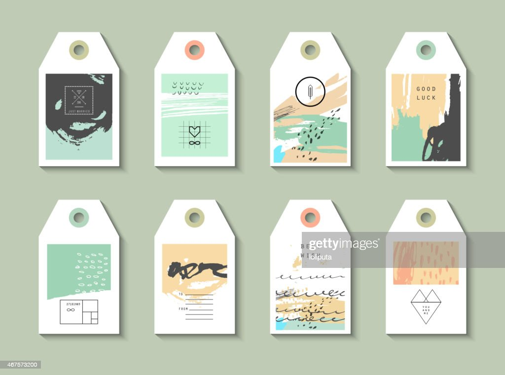 Collection of 8 Hang Tags.