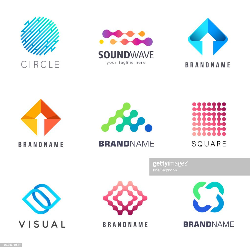 Collection of abstract vector design element for business