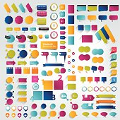 Collection of assorted info-graphic icons