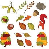 Collection of Autumn Clip Art Vectors