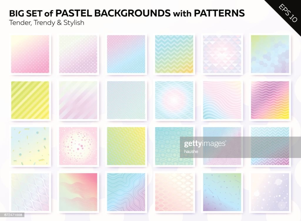 Collection of Beautiful Pastel Vintage Covers with Different Patterns.