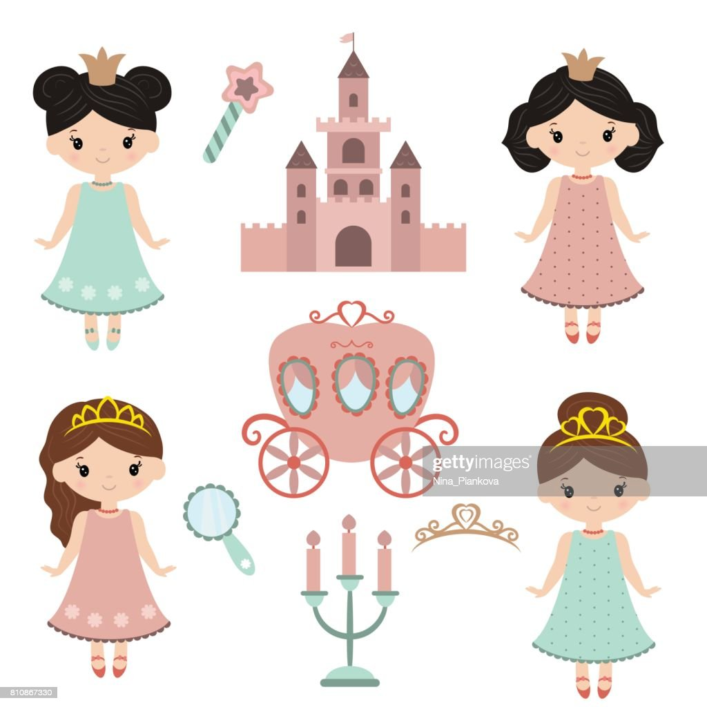 Collection of beautiful princesses