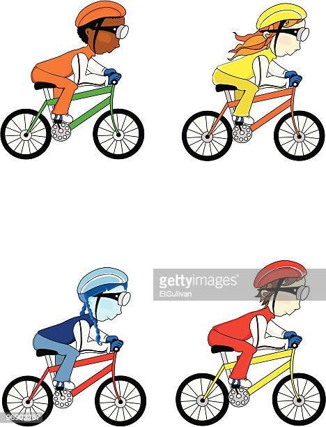illustrations, cliparts, dessins animés et icônes de collection de cyclistes - compétition de cyclisme