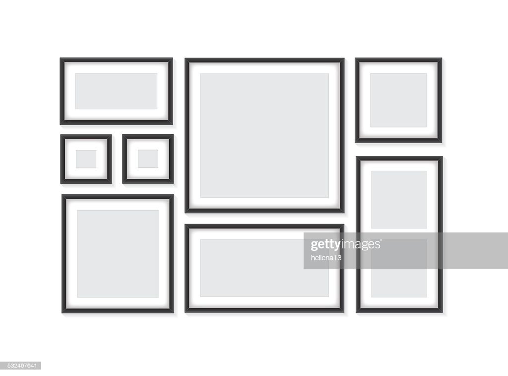 Collection of black frames
