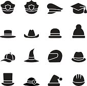 collection of black hat
