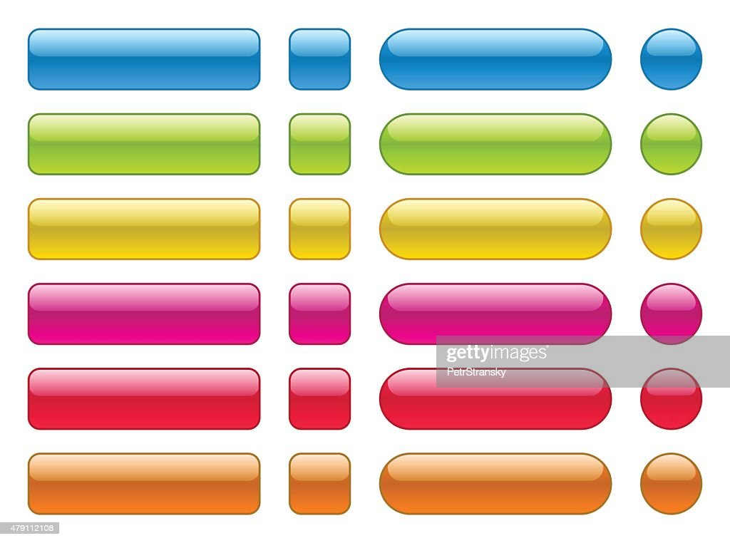 collection of blank colorful buttons