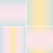 Collection of blurry backgrounds in pastel colors