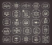Collection Of Calligraphic And Typographic Valentine/Love Vintage Design