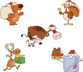 Collection of Christmas Animals