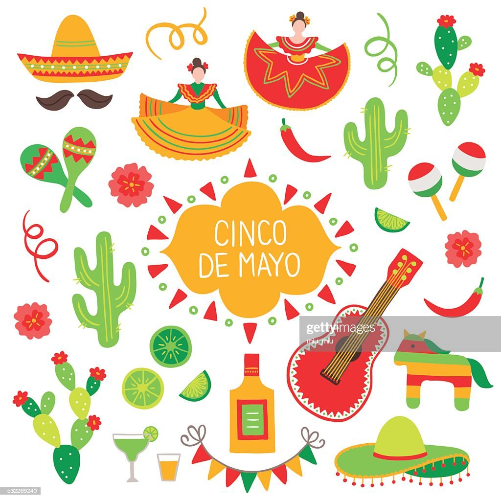 Collection of Cinco de Mayo design elements