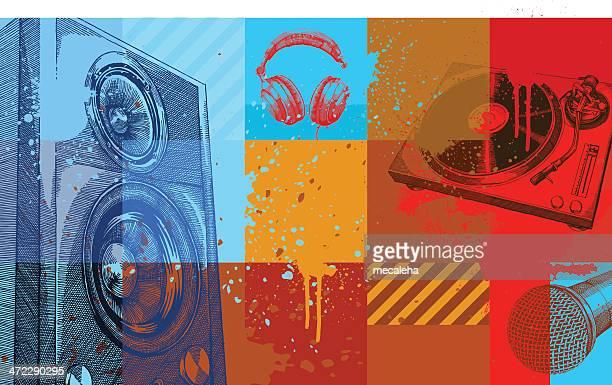ilustrações, clipart, desenhos animados e ícones de música de fundo - música