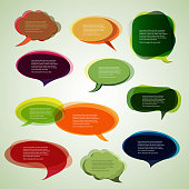 Collection of Colorful Speech And Thought Bubbles