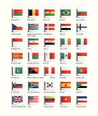 Collection of country flags vector illustration
