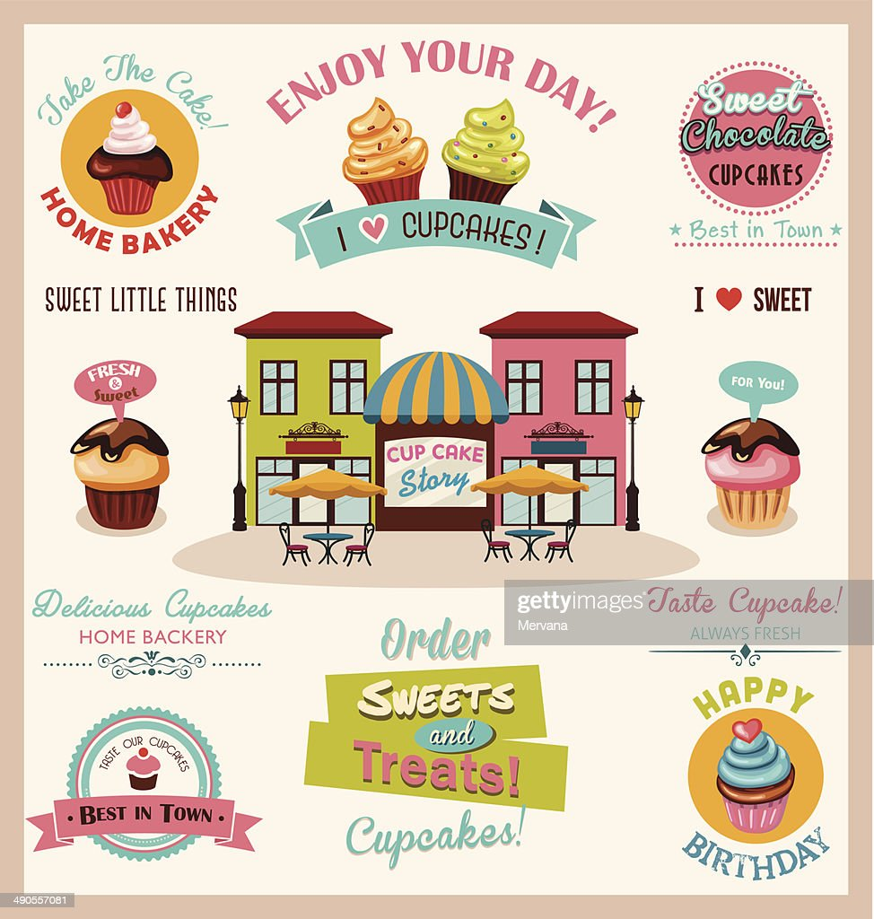 Collection of Cupcake Design Elements