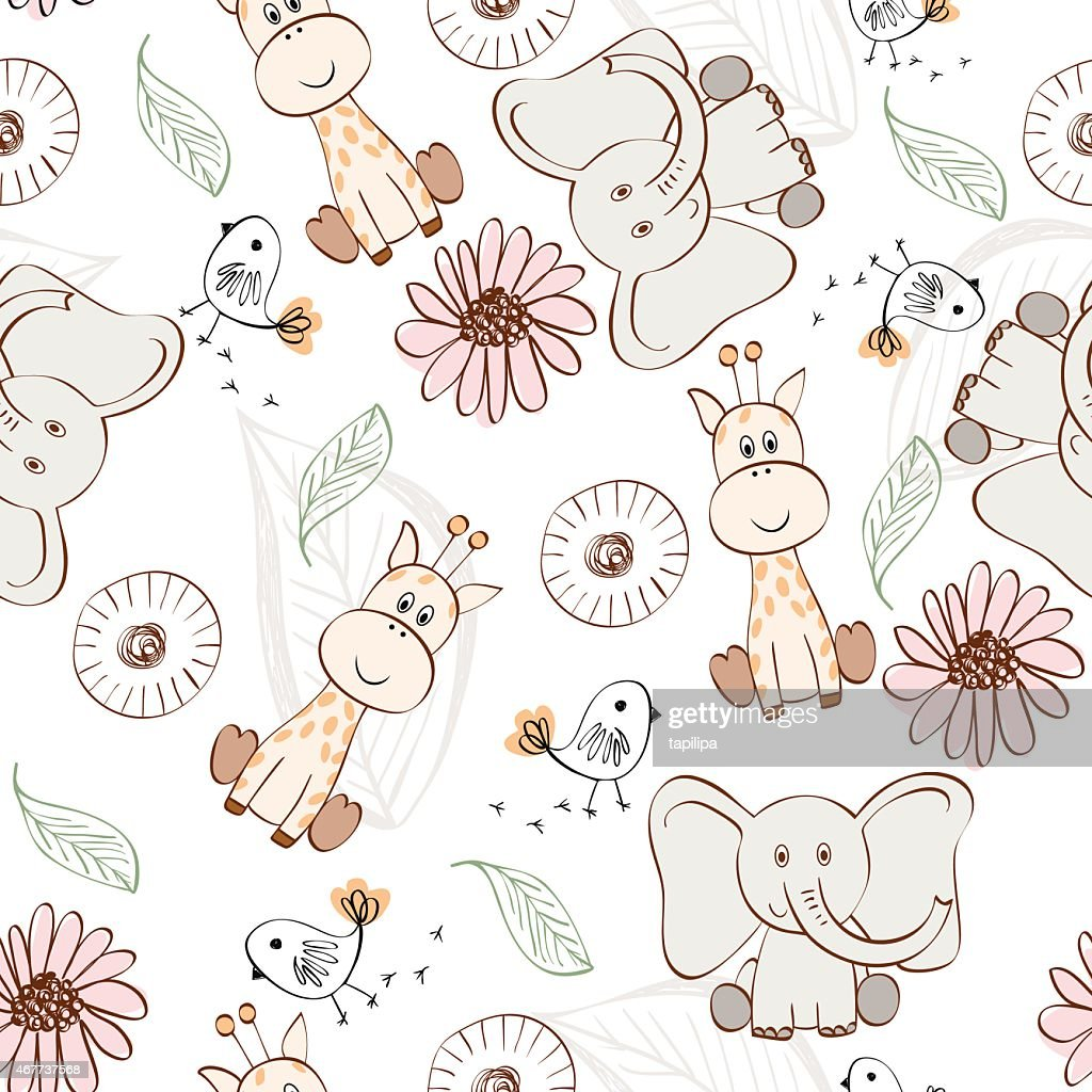 Collection of cute animal drawings