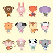 Collection of cute animals design