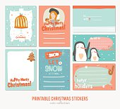 Collection of Cute Vector Journaling Cards