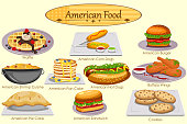 Collection of delicious American food