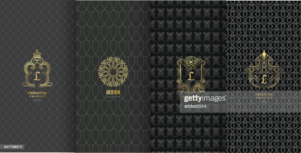 Collection of design elements,labels,icon,frames, for packaging