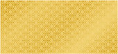 Collection of design Thai Pattern gold background vector