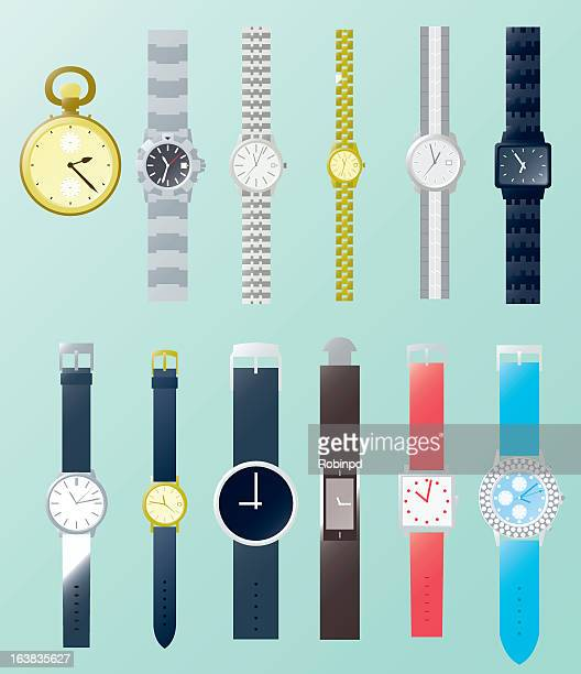 Collection of different styles of watches