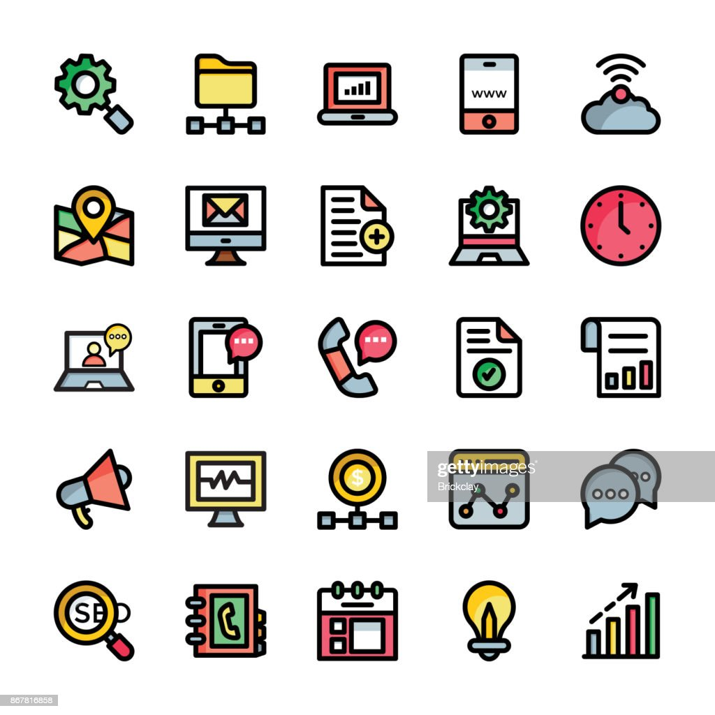 Collection of Digital Marketing Icons