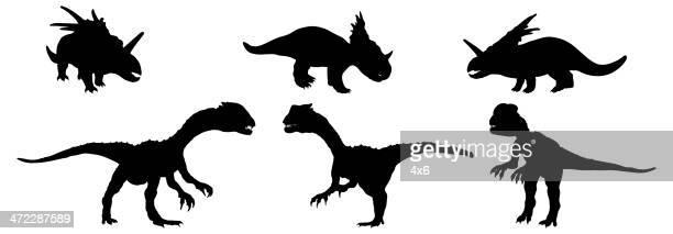 Sammlung von Dinosaurier-Silhouetten