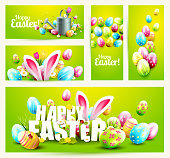 Collection of Easter banners or headers