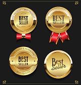Collection of Elegant golden premium Best seller labels