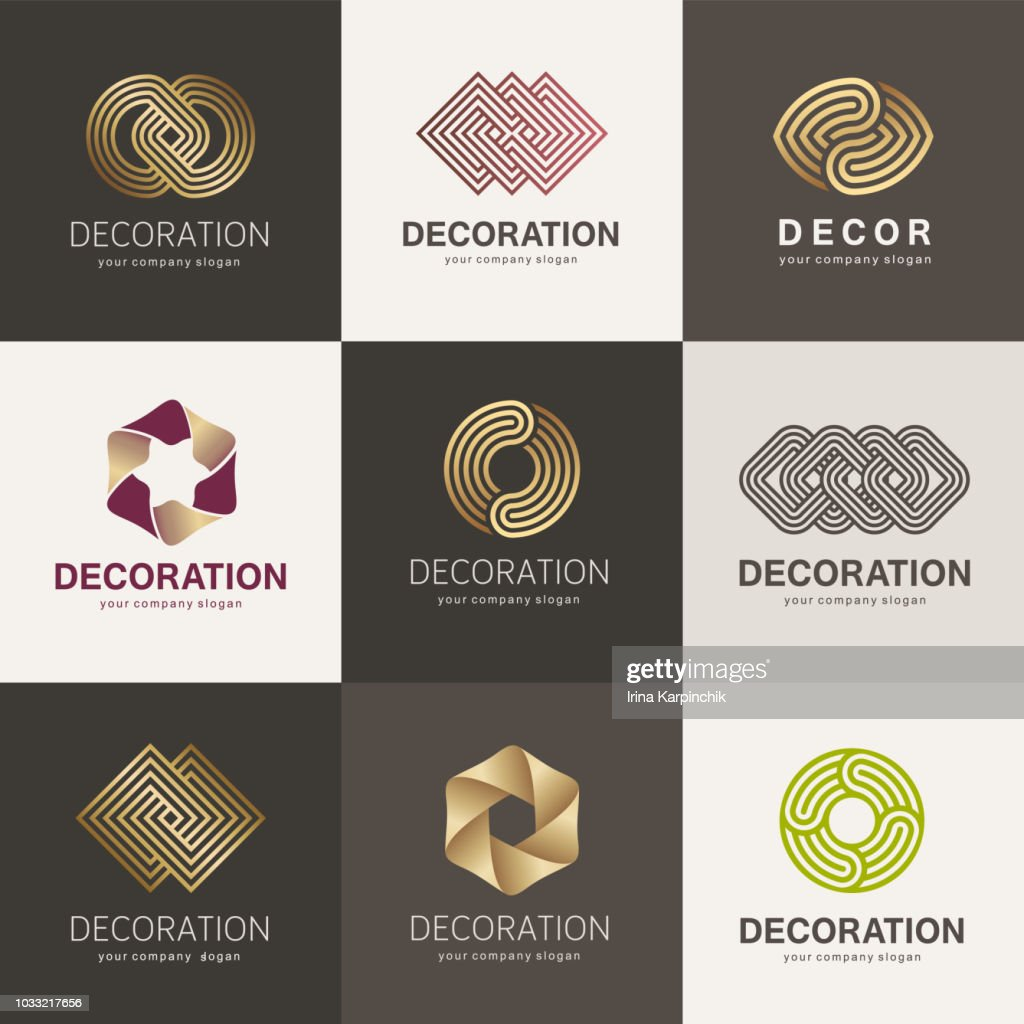 A collection of element design for interior, decor and home decoration
