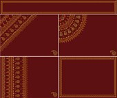 Collection of Festive backgrounds or cards with traditional Indian motifs