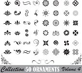 Collection of fifty ornaments