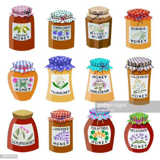 Collection of Flower Honey.