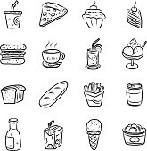 collection of food and drink