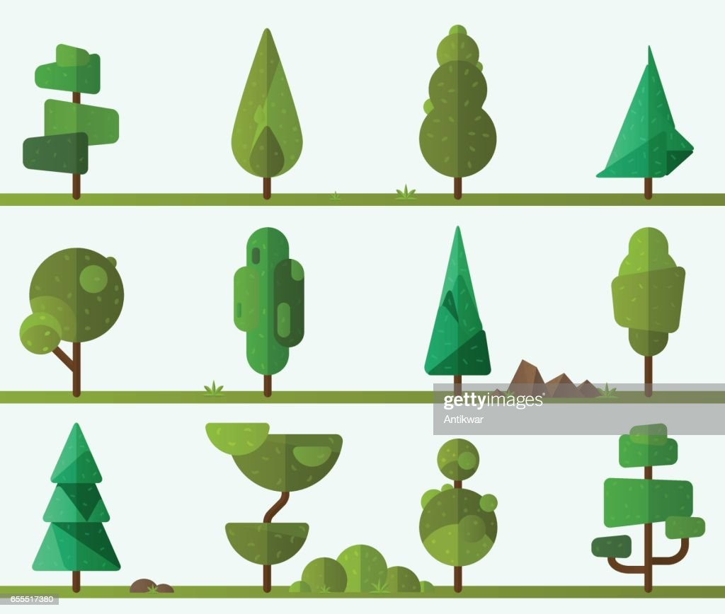 Collection of geometric trees