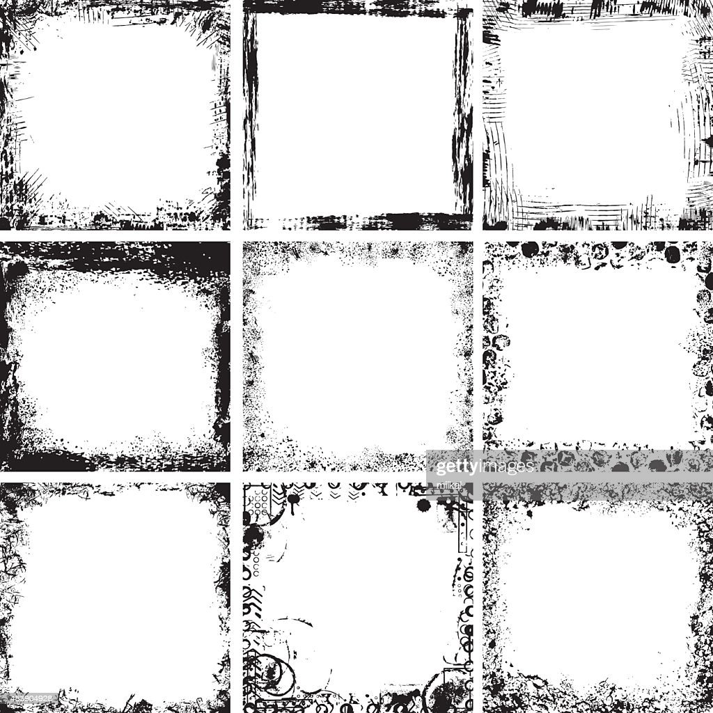 Collection of grunge frames