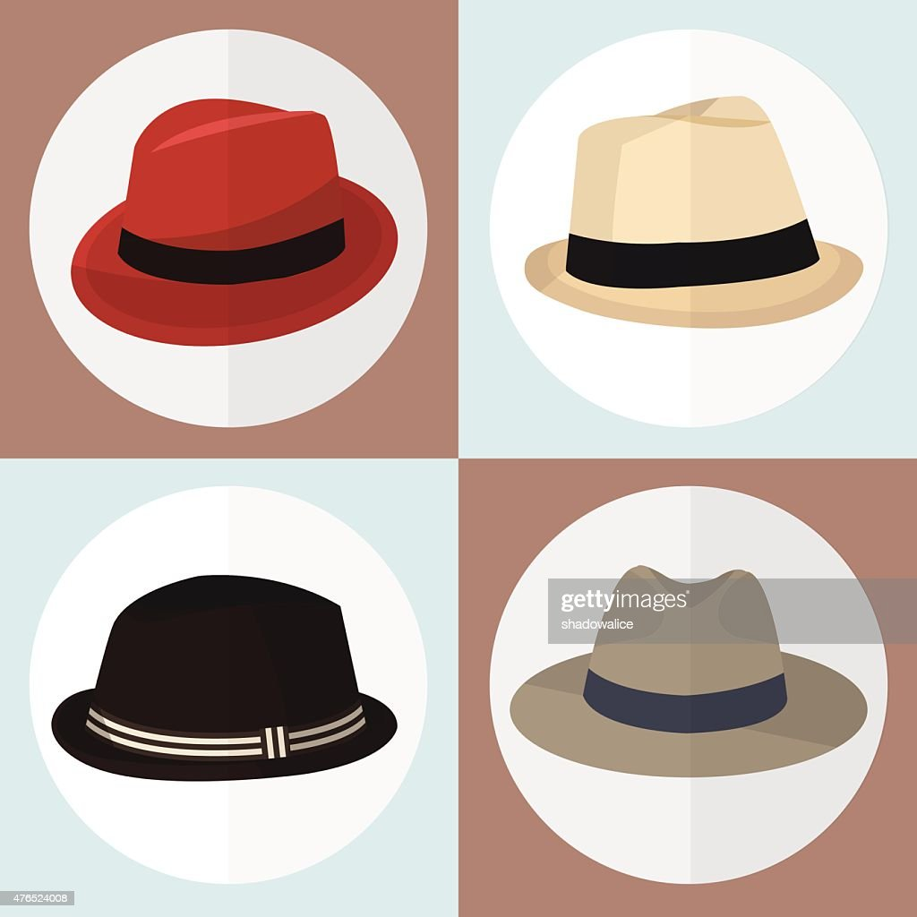 Collection of hat man icon great