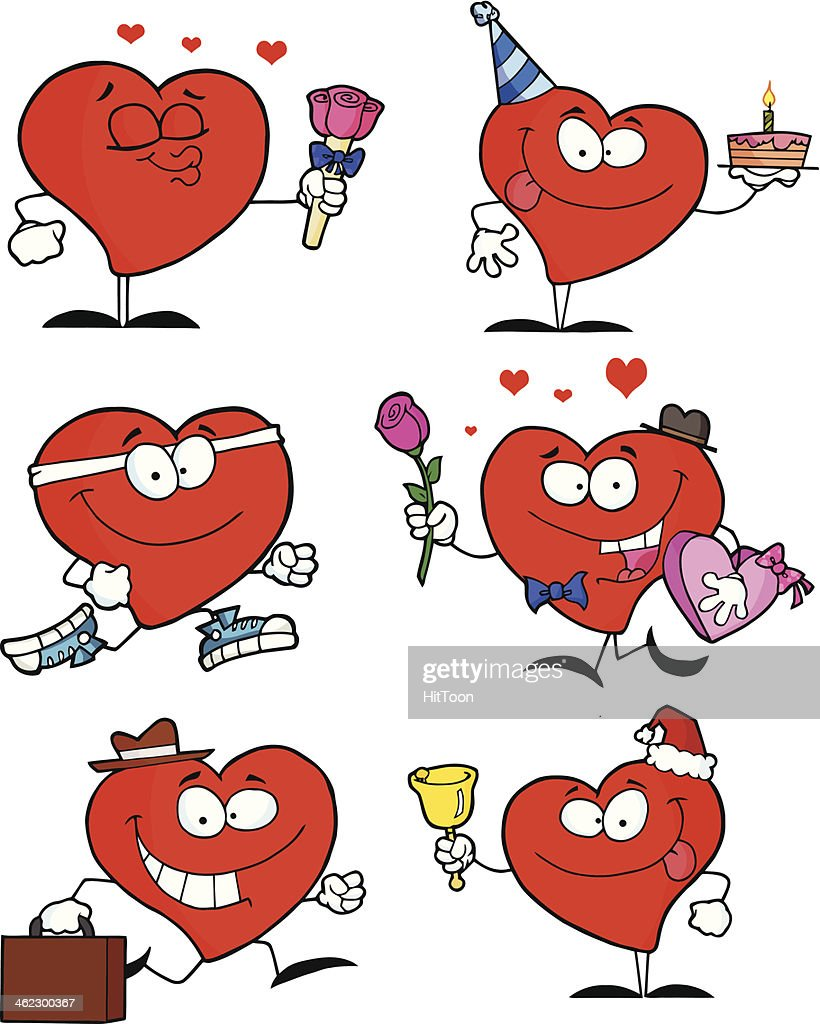 Collection Of Heart Mascots - 1