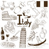 Collection of Italy icons