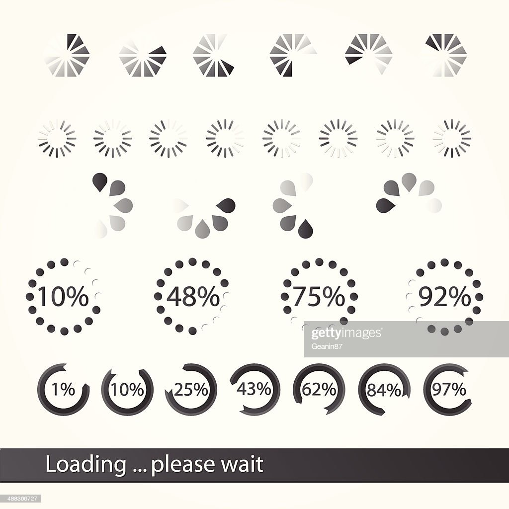Collection of loading icons