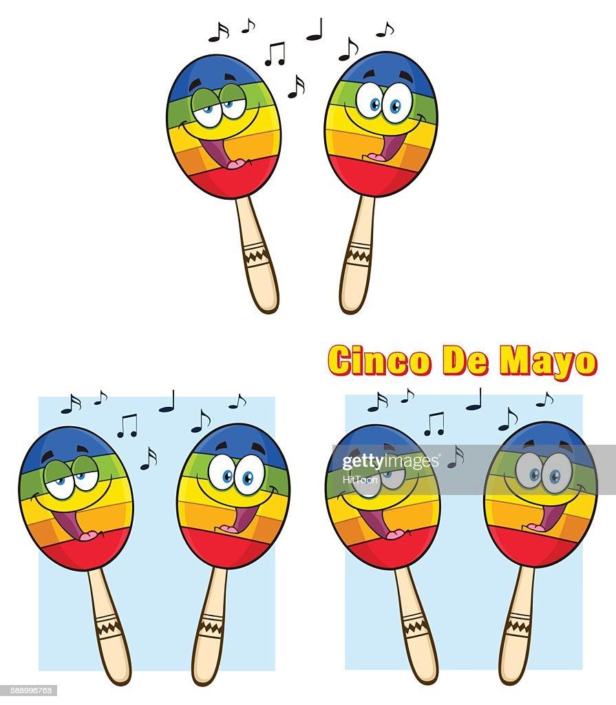 Collection of Maracas Mascot - 3