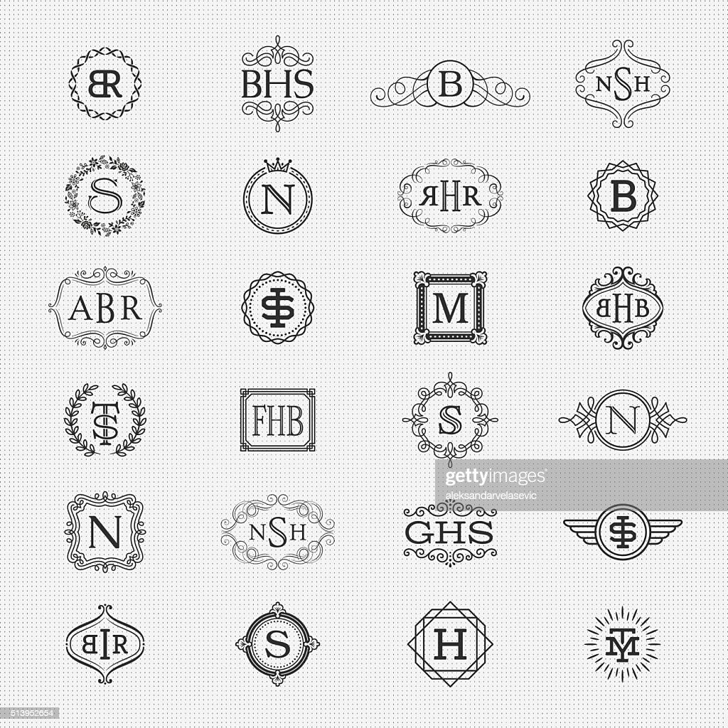 Collection of Monogram Designs