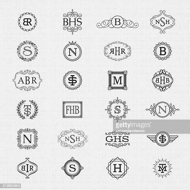 Sammlung von Monogramm-Design