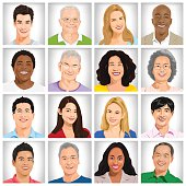 Collection of Multi-ethnic people