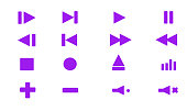 Collection of multimedia symbols in vector format