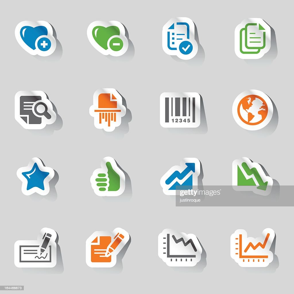 Collection of office and business icons