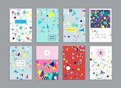 Collection of party cards and invitations.