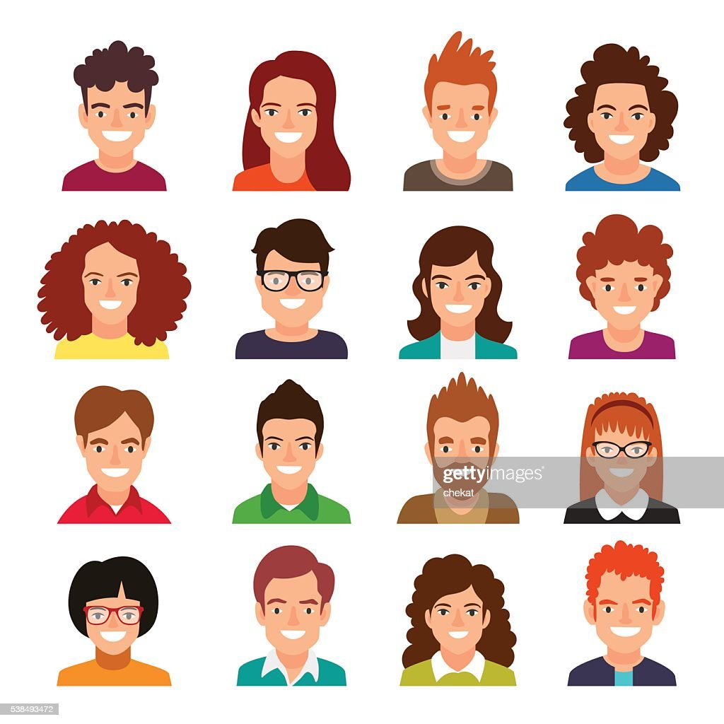 Collection of people avatars.
